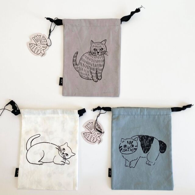 【松尾ミユキ】Reversible drawstring bag S
