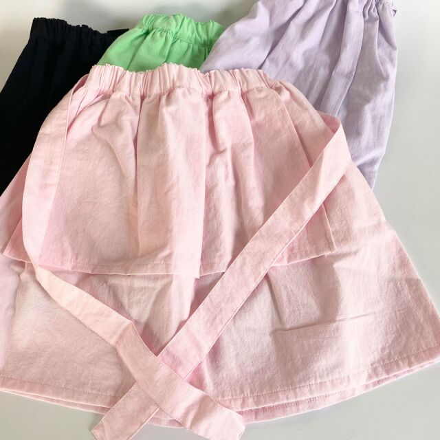 【frankygrow】21SBT-247 APRON STYLE SKIRT DYED