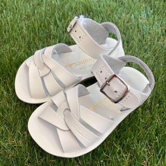 【Salt Water Sandals(ソルトウォーターサンダル)】Sun San swimmer(ベルクロ)/White/13.3cm~22.4cm