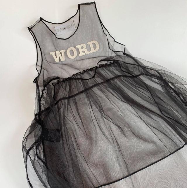 "【UNIONINI】OP-080 ""WORD"" tulle long dress"