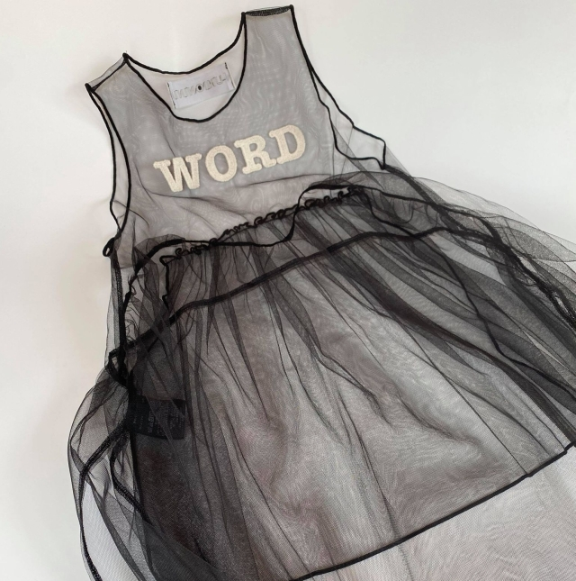 "【UNIONINI】OP-080 ""WORD"" tulle long dress"