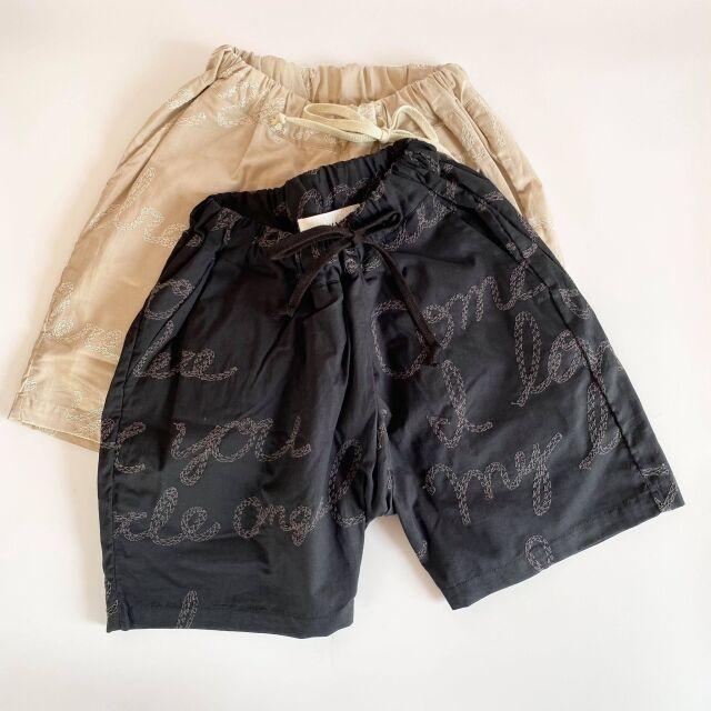 【UNIONINI】PT-086 embroidery short pants