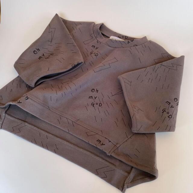 【arkakama】AKT00062 SPD M/S Sweatshirt oh my GOD