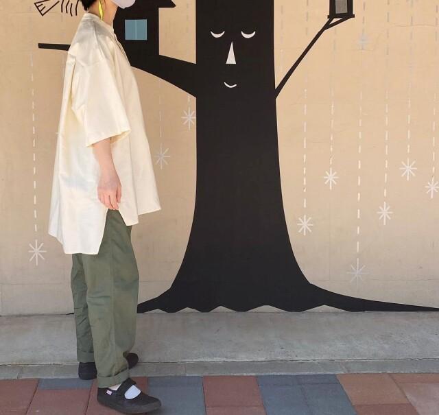 【MOUNTEN.】21S-MS19-0920c C/L moleskin shirts