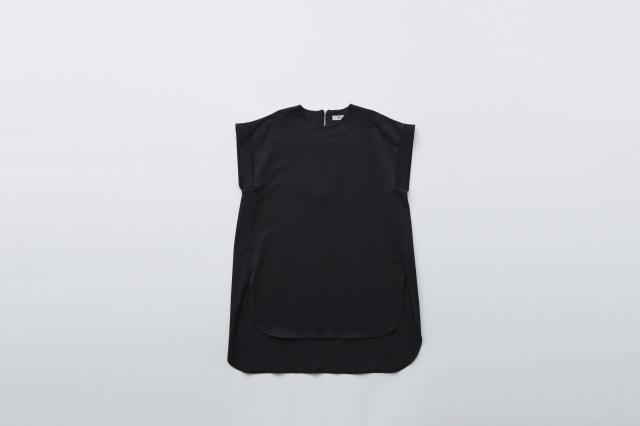 【eLfinFolk】ULTIMA jarsey  long tops black  レディース