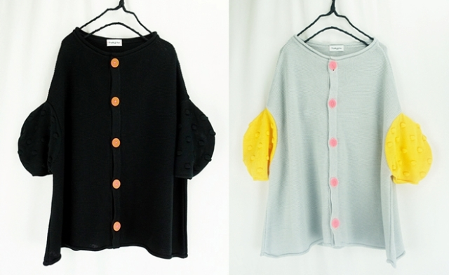 【frankygrow】20SKTCD-112 CIRCLE SLEEVES KNIT CARDIGAN