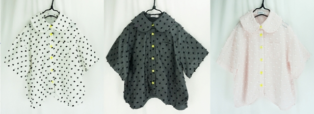 【frankygrow】20SSH-047 BONBON CUT JQ WAVE HEM BLOUSE