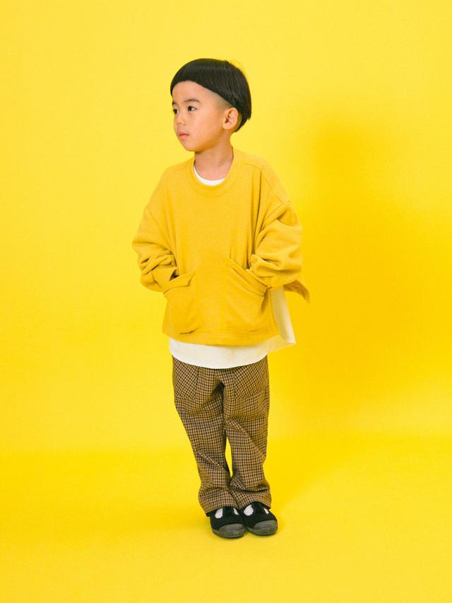 【mimi poupons】180475-1YE ポケット付き スウェット YE