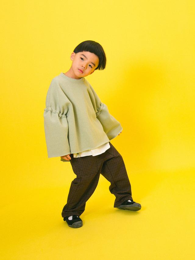【mimi poupons】180474-1BG サイドコード スウェット ブライトグリーン