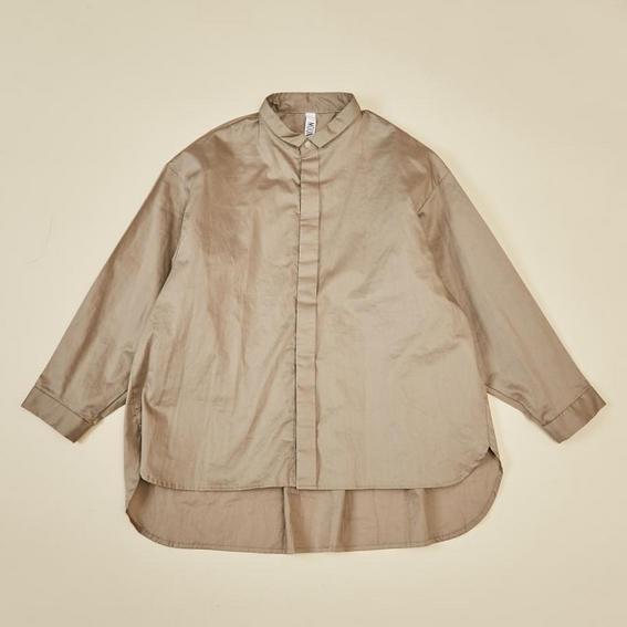 【MOUNTEN.】80/1 washer big shirts  [21W-MS16-1026c]大人のみ