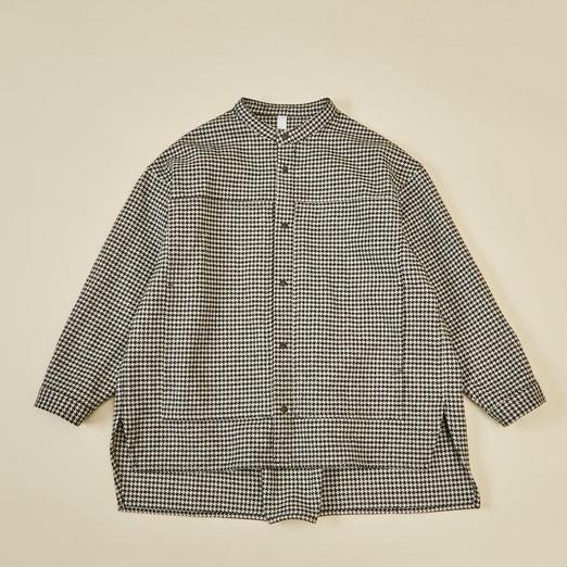【MOUNTEN.】cotton tweed work shirts  [21W-MS20-1028a]