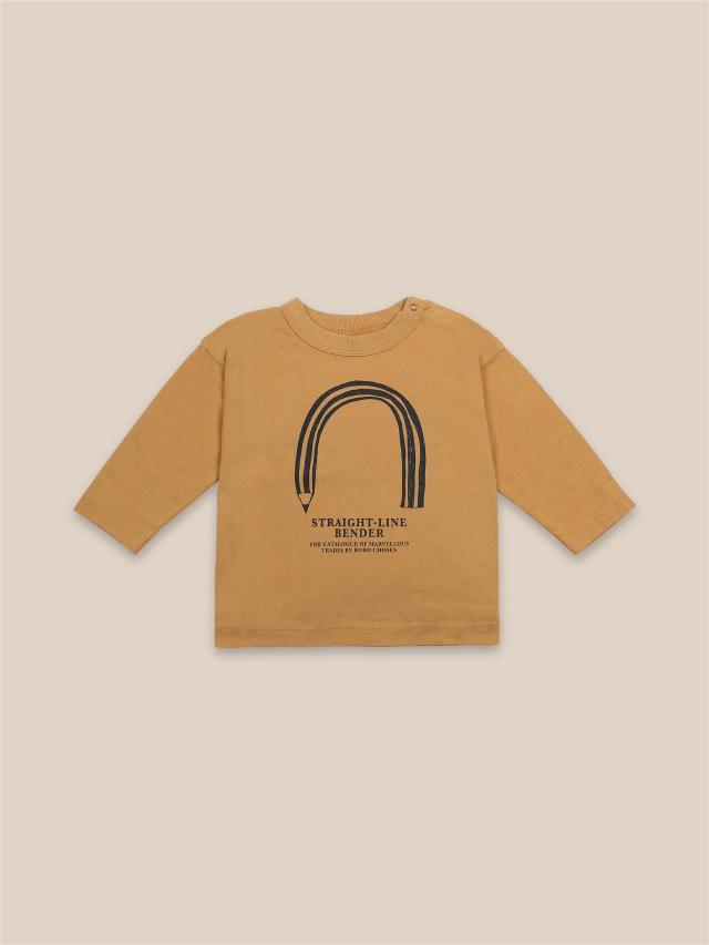 【BOBOCHOSES】22000005 Straight Line Bender Long Sleeve T-Shirt