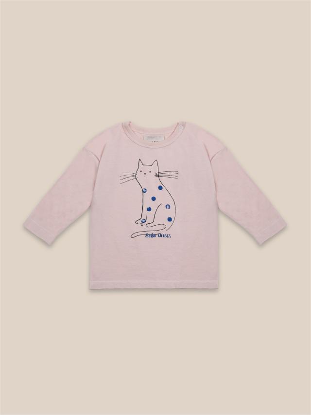 【BOBOCHOSES】22000010 Cat Long Sleeve T-Shirt