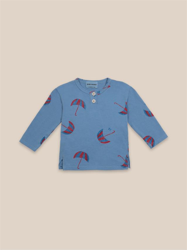 【BOBOCHOSES】22000012 Umbrellas All Over Buttoned T-Shirt