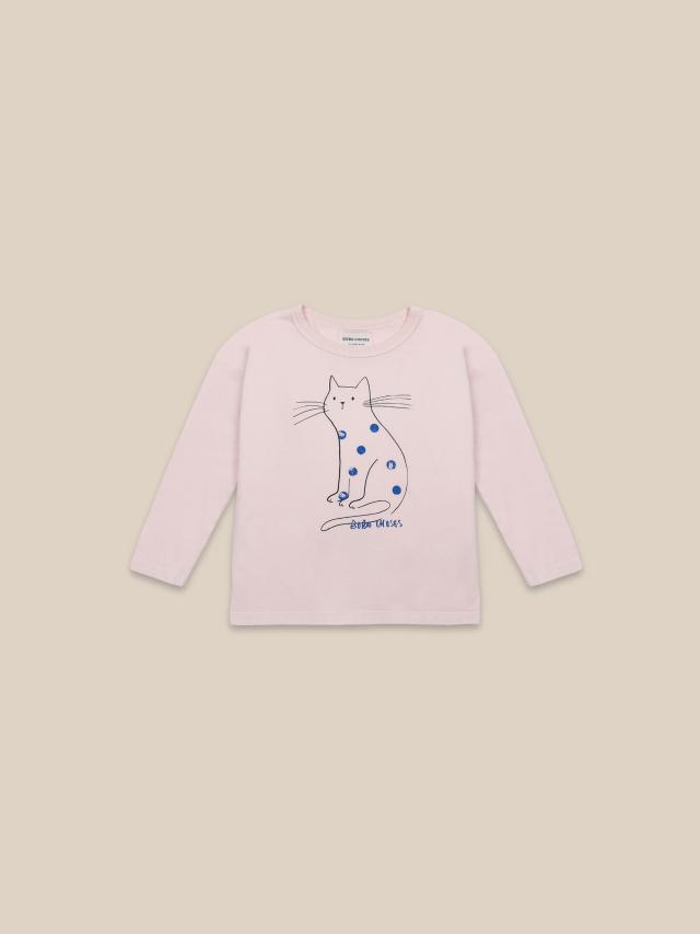 【BOBOCHOSES】22001014 Cat Long Sleeve T-shirt