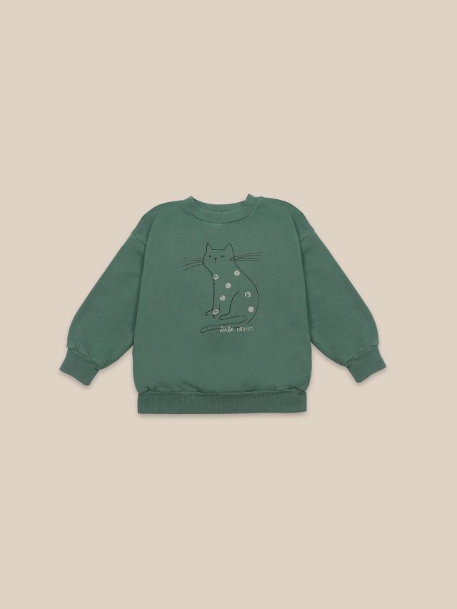 【BOBOCHOSES】22001027 Cat Sweatshirt