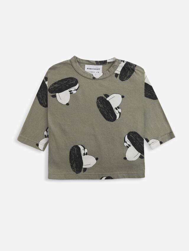 【BOBOCHOSES】Drop1/221AB029 Doggie All Over long sleeve T-shirt BABY