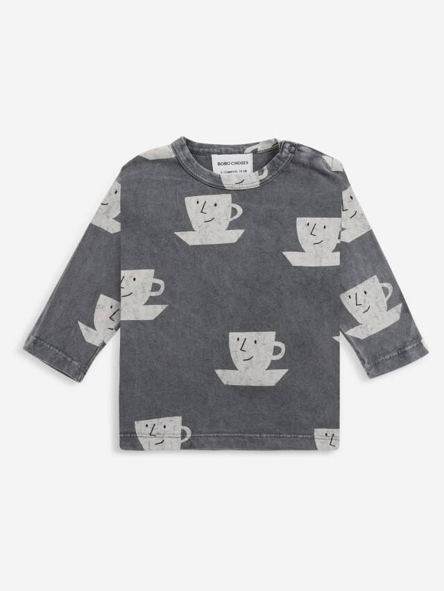 【BOBOCHOSES】Drop1/221AB030 Cup Of Tea All Over long sleeve T-shirt BABY