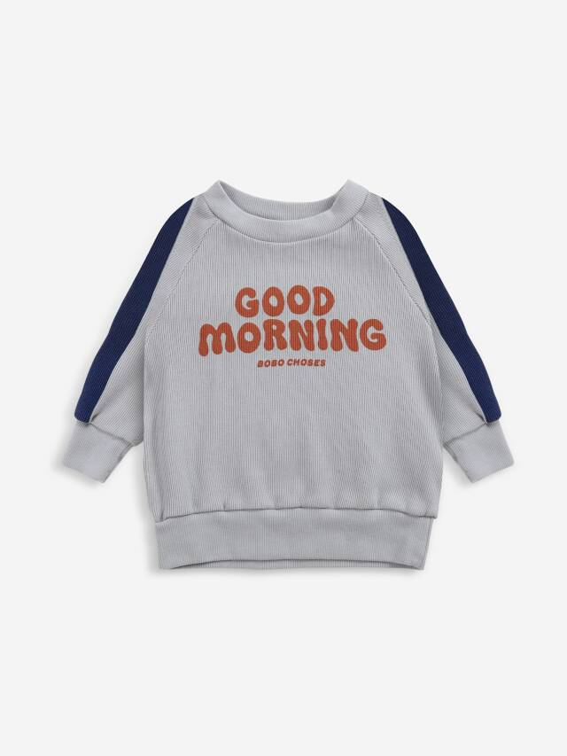 【BOBOCHOSES】Drop1/221AB034 Good Morning sweatshirt BABY