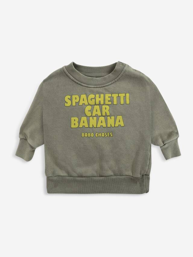 【BOBOCHOSES】Drop1/221AB042 Spaghetti Car Banana sweatshirt BABY