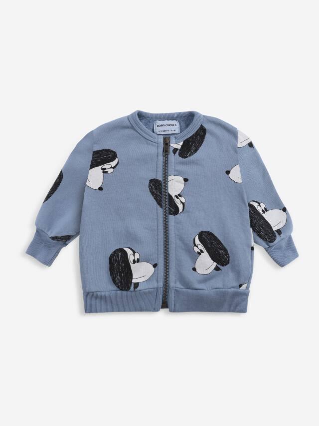 【BOBOCHOSES】Drop1/221AB046 Doggie All Over zipped sweatshirt BABY