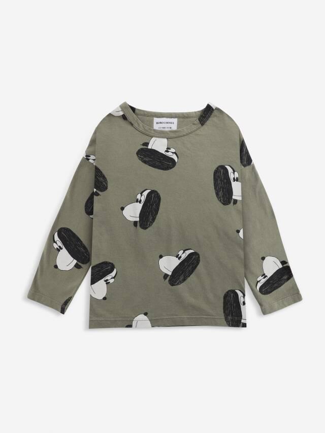 【BOBOCHOSES】Drop1/221AC013 Doggie All Over long sleeve T-shirt KID