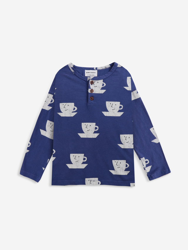 【BOBOCHOSES】Drop1/221AC017 Cup Of Tea All Over buttoned T-shirt KID