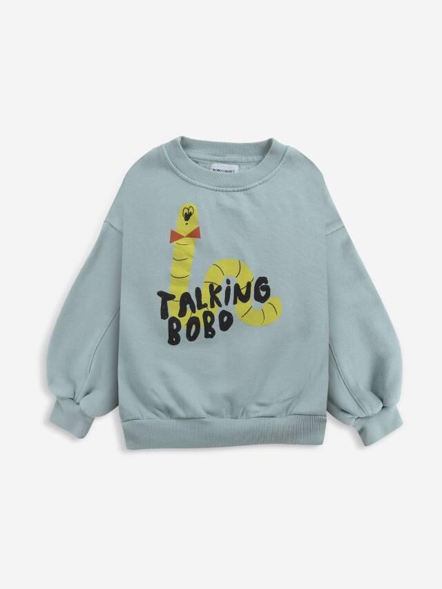 【BOBOCHOSES】Drop1/221AC031 Scholar Worm sweatshirt KID