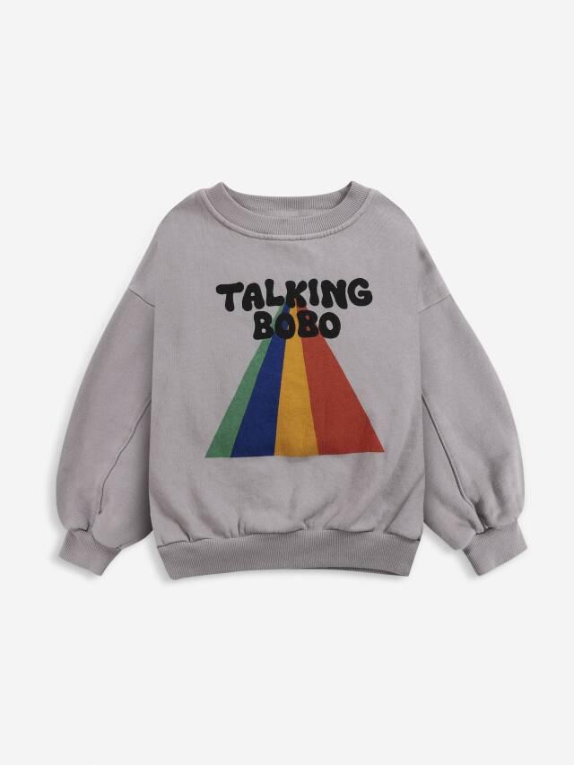【BOBOCHOSES】Drop1/221AC032 Talking Bobo Rainbow sweatshirt KID