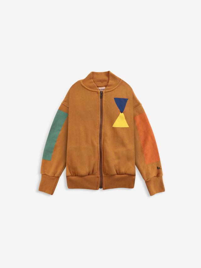 【BOBOCHOSES】Drop2/221AC047 Geometric zipped sweatshirt