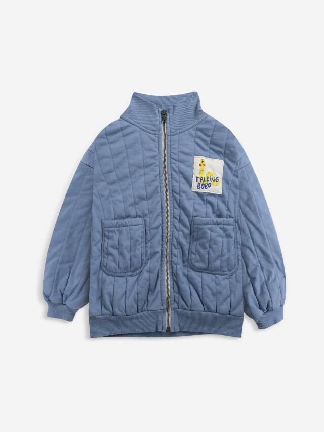 【BOBOCHOSES】Drop2/221AC049 Scholar Worm zipped quilted sweatshirt