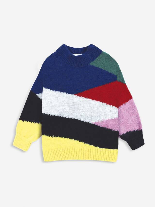 【BOBOCHOSES】Drop2/221AC060 Multi color block knitted jumper