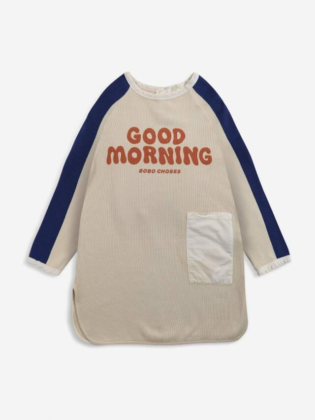 【BOBOCHOSES】Drop1/221AC092 Good Morning fleece dress KID