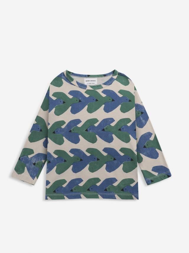 【BOBOCHOSES】Drop2/221AC133 Birds All Over long sleeve T-shirt