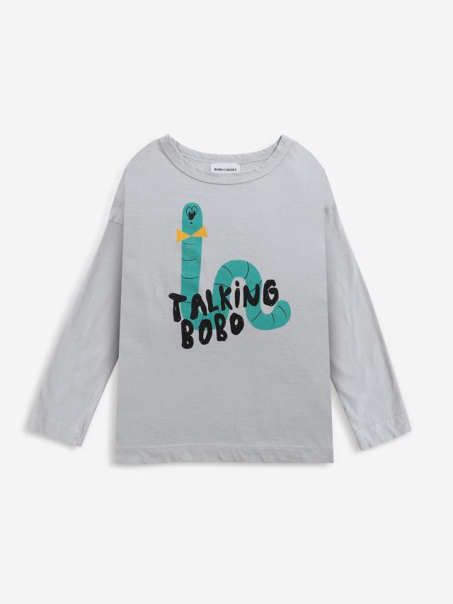 【BOBOCHOSES】Drop1/221AC134 Scholar Worm long sleeve T-shirt KID