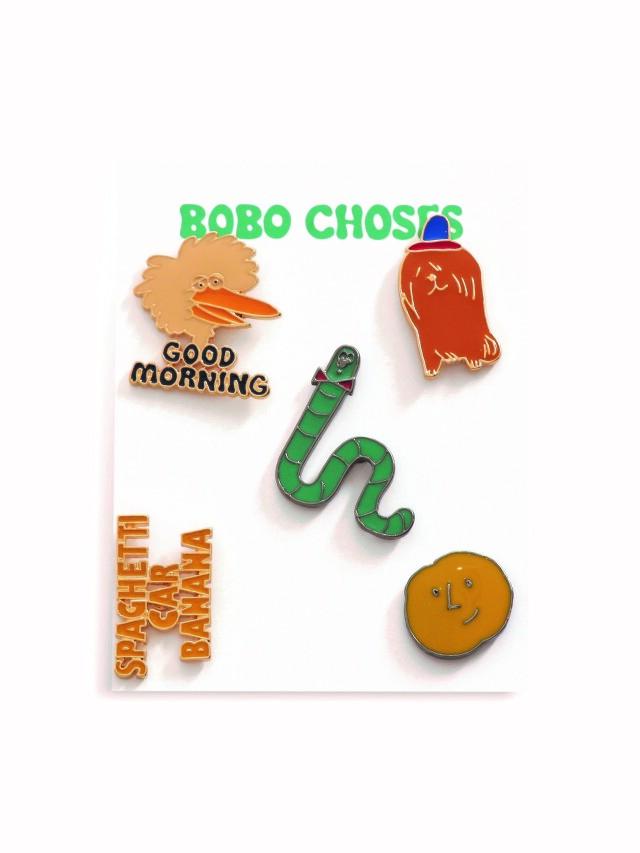 【BOBOCHOSES】Drop1/221AI001 Pins Set of 5