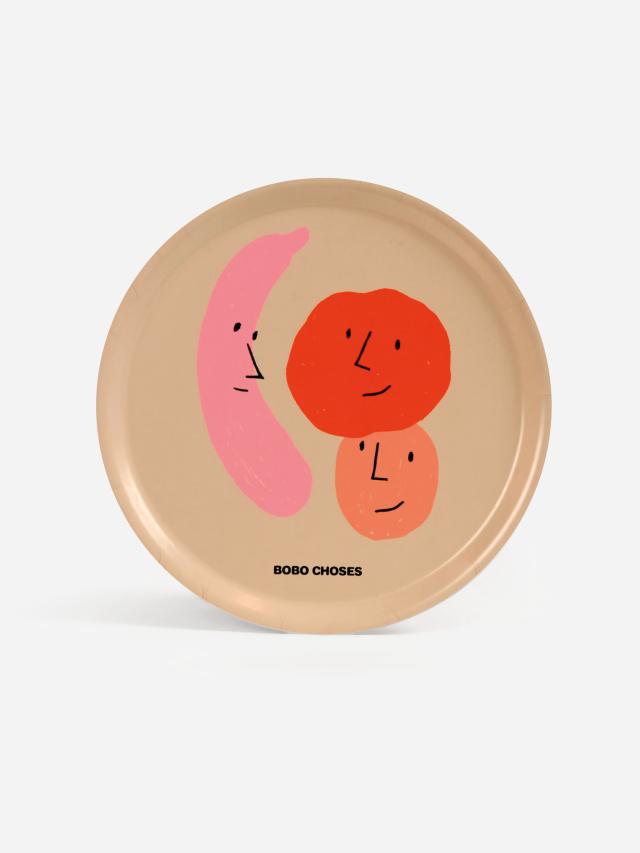 【BOBOCHOSES】Drop1/221AU006 Fruits round tray
