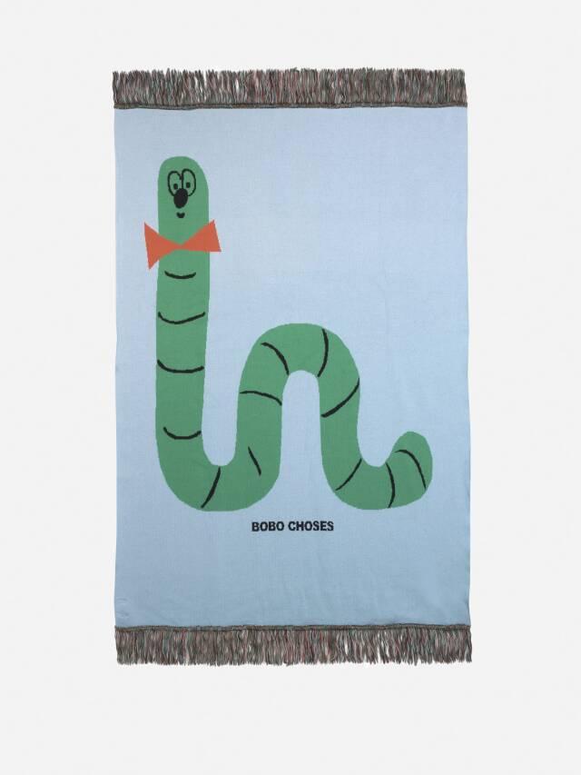 【BOBOCHOSES】Drop1/221AU014 Scholar Worm knitted blanket