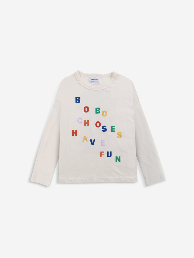 【BOBOCHOSES】「FUN コレクション」221FC002Long sleeve T-shirt bobochoses