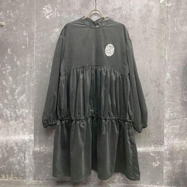 【UNIONINI】OP-081 corduroy mini dress black