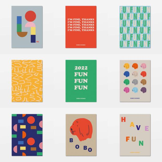 【BOBOCHOSES】「FUN コレクション」221FU001 9 postcards set