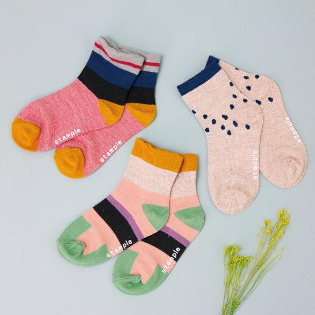 【stample】ラメミックスショートソックス 靴下