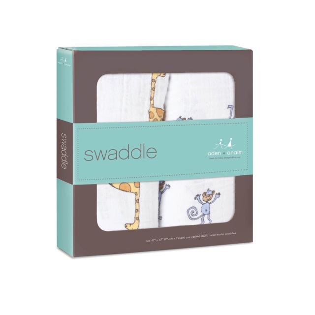 【aden + anais】ガーゼおくるみclassic swaddles 2pack/jungle jam/正規品