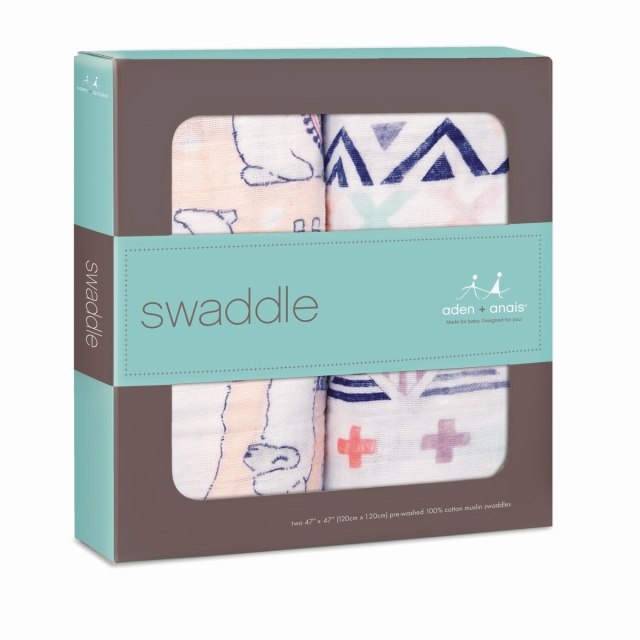 【aden + anais】ガーゼおくるみclassic swaddles 2pack/ trail blooms/正規品