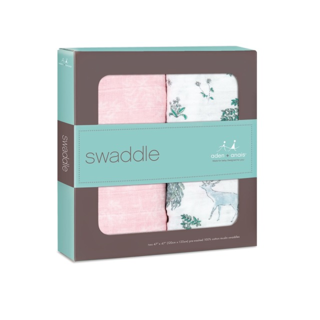 【aden + anais】ガーゼおくるみclassic swaddles 2pack/forest fantasy/正規品