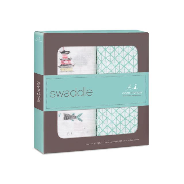 【aden + anais】ガーゼおくるみclassic swaddles 2pack/around the world/正規品