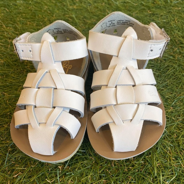 【Salt Water Sandals(ソルトウォーターサンダル)】Sun San Sharks(ベルクロ)/White白/13.3cm~19.2cm