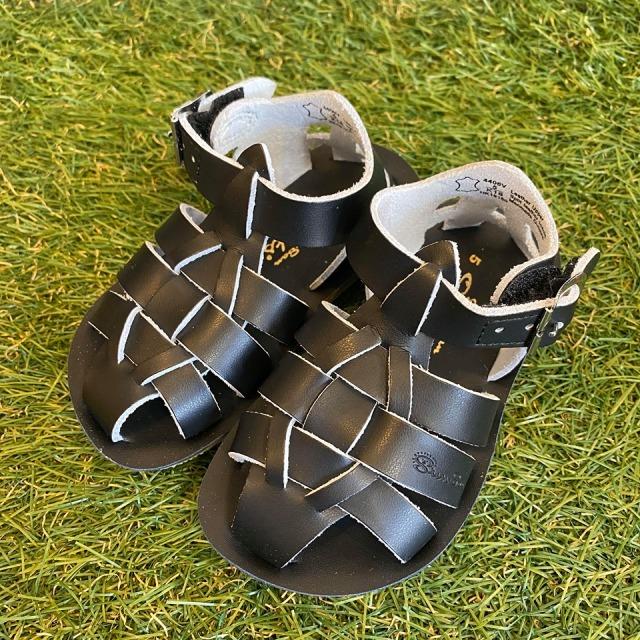 【Salt Water Sandals(ソルトウォーターサンダル)】Sun San Sharks(ベルクロ)/Black黒/13.3cm~19.2cm