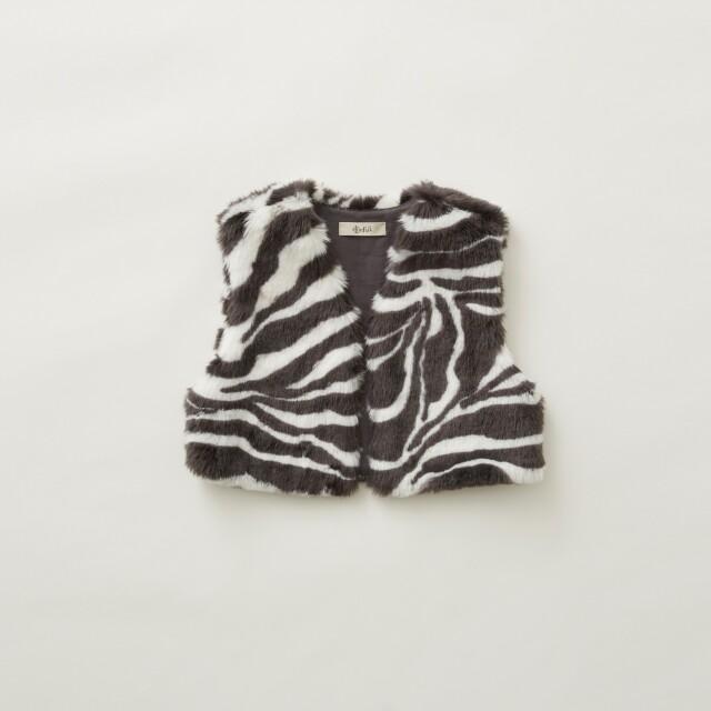 【eLfinFolk】8月入荷予定 Zebra fur vest