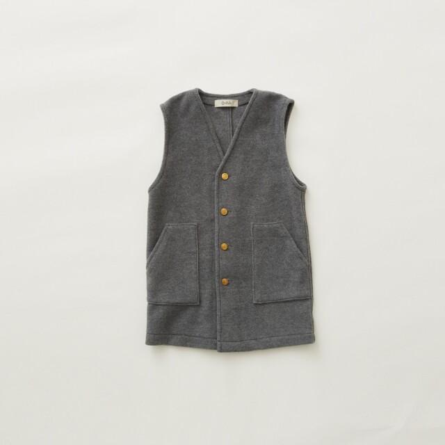 【eLfinFolk】8月入荷予定 Fleece long vest gray